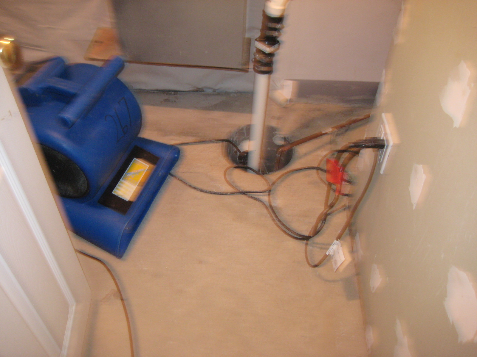 Wet wall,water damage,wet basement