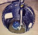 Sump pump in a hole